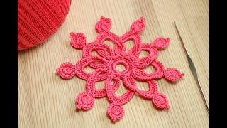 Вязание ЦВЕТКА крючком - мастер класс - Crochet 3D Flower Pattern