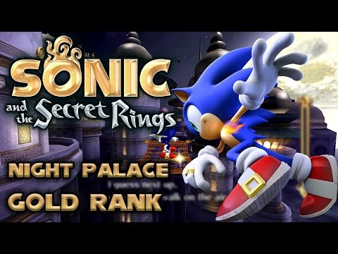 Sonic and the Secret Rings - Night Palace - All Missions with Gold Rank