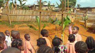 "Pencils4Africa: Children of ""La Base"" singing Cameroon's national anthem"