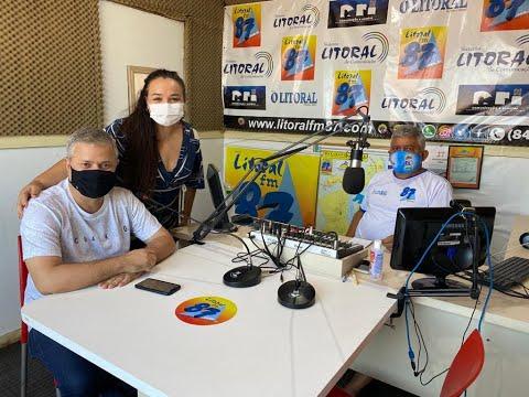 Prefeito Júlio César concede entrevista e prestigia rádio Litoral 87.9 Maracajaú
