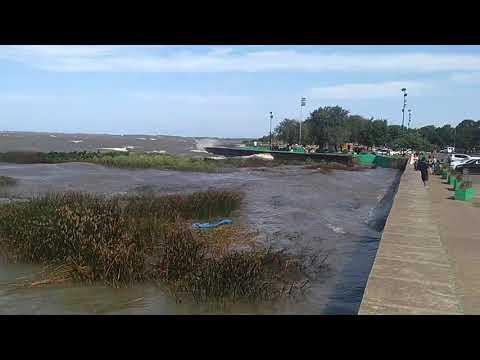 Fuerte crecida del Río en la costa local: 2,80 metros
