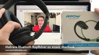 Mehrere Bluetooth Kopfhörer an einem MacBook