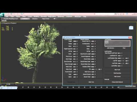 TreeGen, a 3DS Max script that generates cheap realtime trees