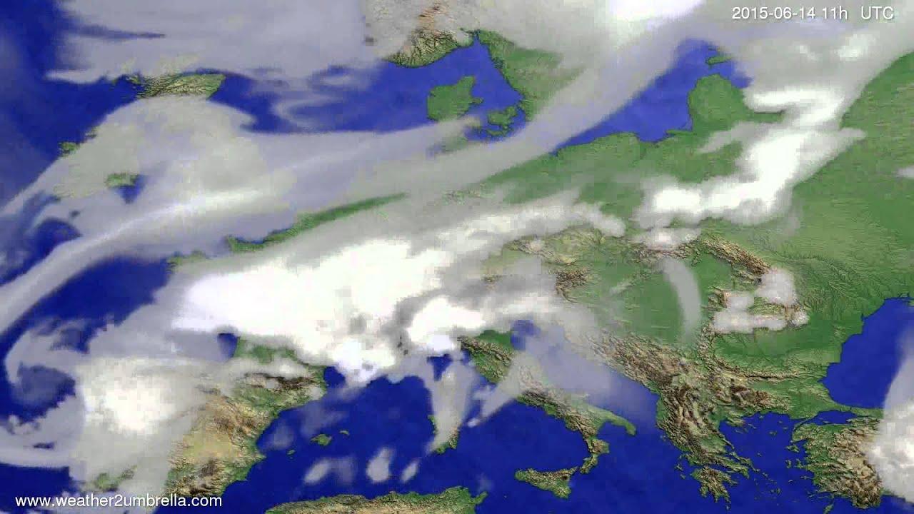 Cloud forecast Europe 2015-06-11