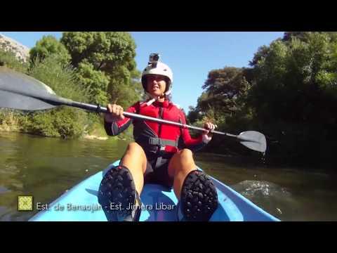 Piragüismo en el río Guadiaro