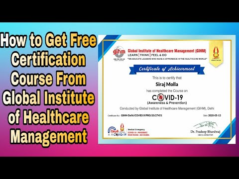 How to Get Free Certification Course From Global Institute Of ...