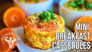 FitMenCook Mini Breakfast Casseroles / Mini Cacerolas para el Desayuno