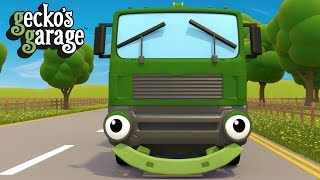 Garbage Truck Song | Street Vehicles For Toddlers | Gecko's Garage
