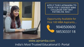 Apply to Top MBA Colleges @500/- thru ApnaMBA