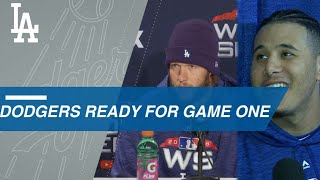 Dodgers arrive at Fenway for World Series Media Day