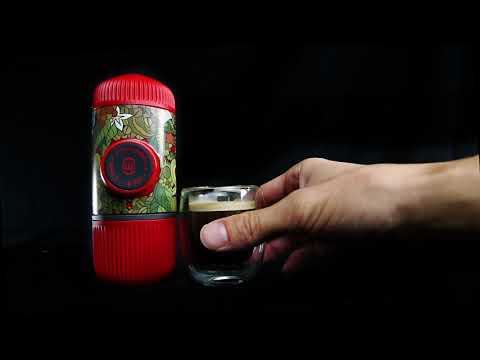 Ручная мини-кофемашина Wacaco, с жестким чехлом, молотый кофе, черный джунгли