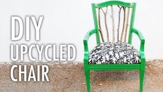 DIY Trash to Treasure Statement Chair with Mr. Kate