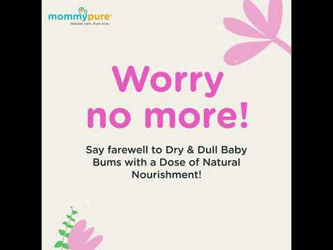 Baby Bum Butter, Baby Diper Cream, Natural baby Bum Cream, organic baby Bum Cream, mommypure Baby Bum cream 50 gm video