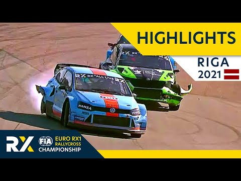 世界ラリークロス 第5戦ラトビア(リガ)2021年 RX1 予選タイムアタックのハイライト動画