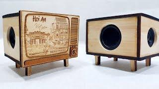 Chế Loa Bluetooth Phiên Bản Box Tivi Cổ