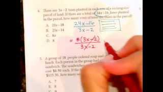 Texas Success Initiative Sample Math Problems 1 to 5