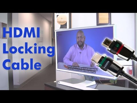 Easy Lock HDMI Cable, Simple Secure Locking Connector 4K UHD
