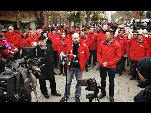 Kétszáz MSZP-s aktivista lepte el a piacot