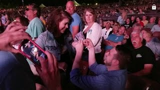 Journey Concert Marriage Proposal at Bethel Woods (Official)