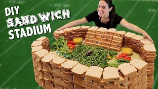 DIY 7 INGREDIENT SANDWICH STADIUM 🥪🏟️ - Video Youtube