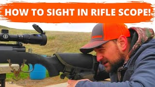 HOW to SIGHT in a RIFLE at 100 YARDS