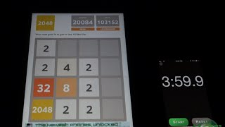 2048 solved in under 4 minutes!!