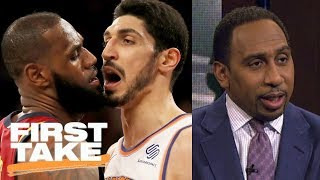 Stephen A. Smith sides with LeBron James in scuffle with Knicks | First Take | ESPN