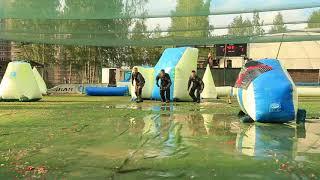 Веселые подкаты в лужу. Этап кубка России по спортивному пейнтболу. Санкт-Петербург