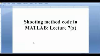Shooting Method Code for the solution of Coupled Nonlinear System in