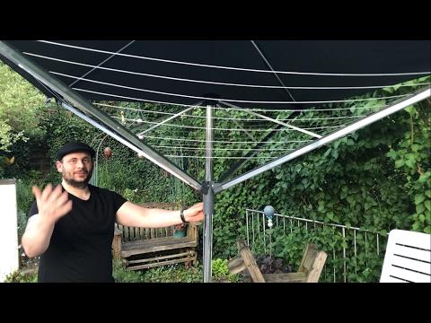 Leifheit LinoProtect 400 – die Wäschespinne mit Dach unboxing und Anleitung hands-on Video