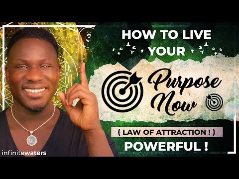 How to Live Your Purpose Now (Law of Attraction!) Powerful!