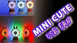 Cute LED Mini Fan By SROLANH Smart Store