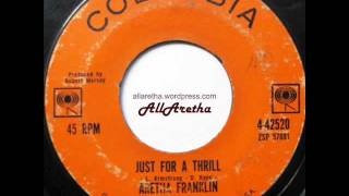 Aretha Franklin - Try A Little Tenderness / Just For A Thrill - 7″ - 1962