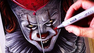 Lets Draw PENNYWISE - IT CHAPTER TWO - FAN ART FRIDAY