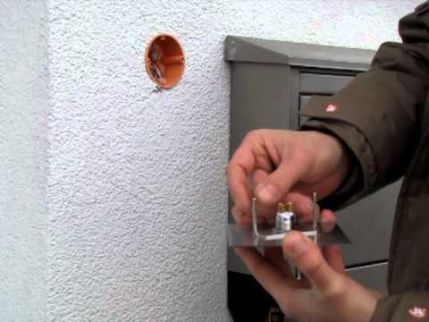 Edelstahl Klingel Türklingel Klingelplatte Befestigung in einer Unterputzdose