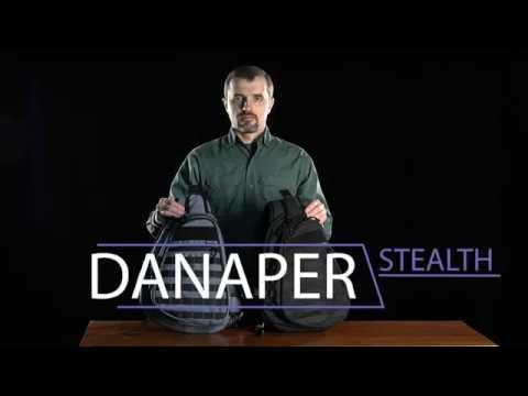 Однолямочный рюкзак слингер Danaper Stealth Urban, Black для скрытого ношения оружия