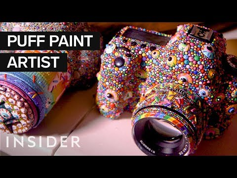 Creating Art with Puff Paint
