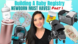 CREATE A BABY REGISTRY WITH ME (PT 1) | NEWBORN MUST HAVES | Amazon Baby Registry Checklist