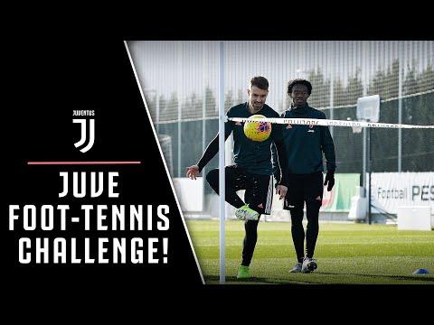 JUVENTUS FOOT-TENNIS CHALLENGE! ️    FEAT. TRAINING DRILLS