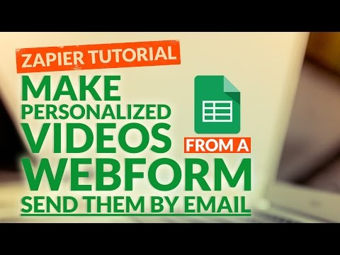 How to Create a Personalized Video and Send a Video by Email with Zapier