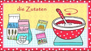 Deutsch Lernen: Kuchenrezept Zum Backen - Learn German: Cake Recipe