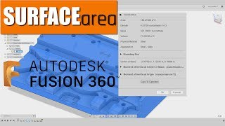 How to Calculate Surface Area in Fusion 360!