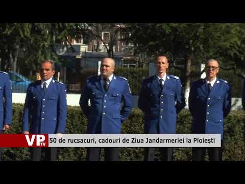 50 de rucsacuri, cadouri de Ziua Jandarmeriei la Ploiești