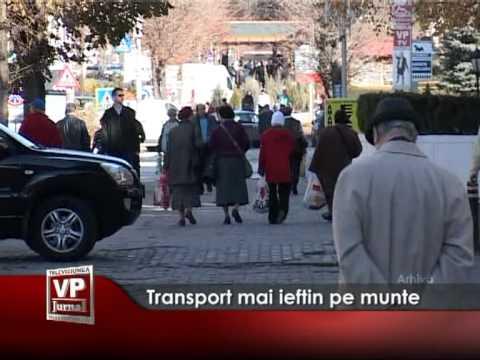 Transport mai ieftin pe munte