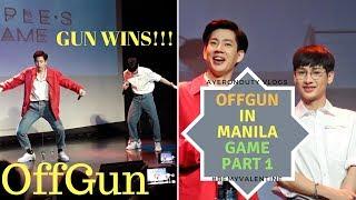 OFFGUN in Manila | SHOOT IN THE BOTTLE GAME 1 | GMMTV | Off Jumpol & Gun Atthaphan