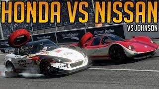 Forza 7 Honda Vs Nissan   Super GT vs Johnson