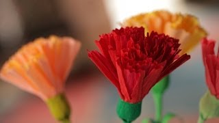 How to Make Crepe Paper Flowers - YouTube