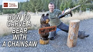 How To Carve A Bear With A CHAINSAW!