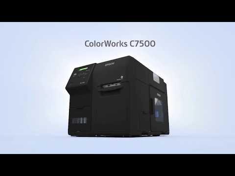 Epson C7500G Industrial Colour Label Printer - High Gloss Labels video thumbnail