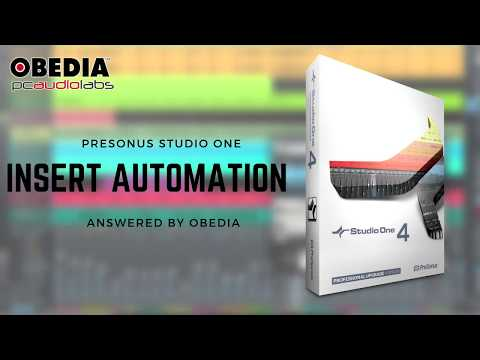 Get Started with Studio One: Insert Automation in Studio One